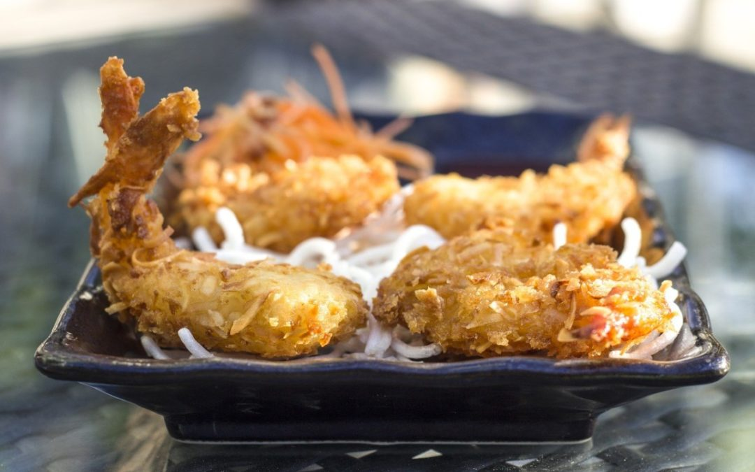 Super Easy Broiled Coconut Shrimp